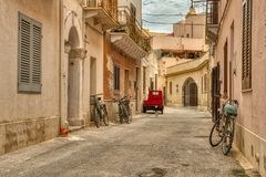 El transporte de la isla de Favignana es simple foto de archivo libre de regalías