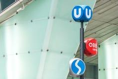 El transporte público firma adentro Viena, Austria Imágenes de archivo libres de regalías