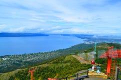 El tranvía aéreo levanta a San Carlos de Bariloche Fotografía de archivo libre de regalías