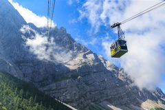 El tranvía de Eibsee a la cumbre de Zugspitze Imagen de archivo libre de regalías
