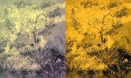 El tree.2 exhausto stock de ilustración