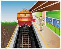 El tren amarillo stock de ilustración