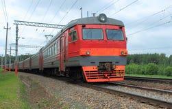 El tren corriente Fotos de archivo