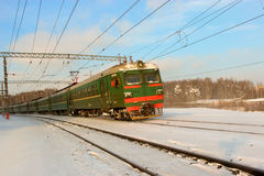 El tren corriente Imagen de archivo libre de regalías