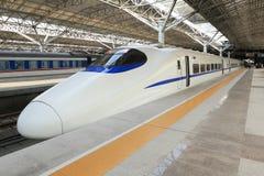 El tren de alta velocidad de China Fotos de archivo libres de regalías
