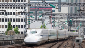 El tren de bala de Shinkansen Foto de archivo libre de regalías