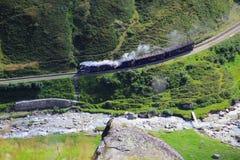 El tren de las montañas foto de archivo libre de regalías