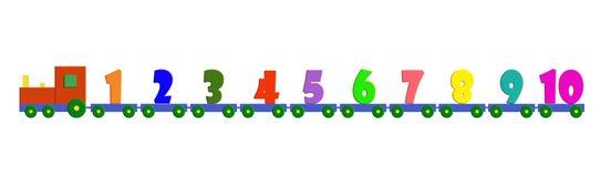 El tren de los números Fotografía de archivo libre de regalías
