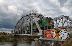 El tren de precipitación Imagenes de archivo