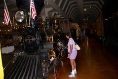 El tren 1858 de Rogers que llevó a Theodore Roosevelt imagen de archivo libre de regalías