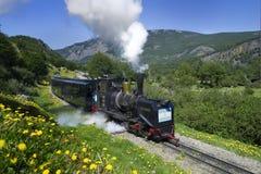 El tren del extremo del mundo Fotos de archivo libres de regalías