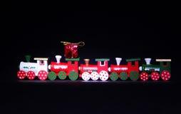 El tren 2018 del regalo de la Feliz Año Nuevo usted protagoniza nieve de la Navidad Imagenes de archivo