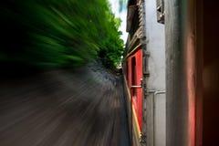 El tren enfoca encendido Fotografía de archivo libre de regalías