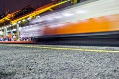 El tren está viniendo Imagen de archivo libre de regalías