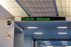 El tren Maglev de la levitación magnética del tren de pasajeros más rápido del carro Imágenes de archivo libres de regalías