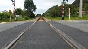El tren sigue el westport Fotos de archivo