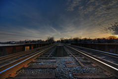 El tren sigue HDR Foto de archivo