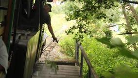 El tren viejo del motor de vapor almacen de video