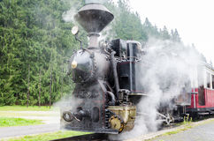 El tren viejo del motor de vapor Fotografía de archivo