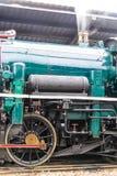 El tren viejo del motor de vapor Foto de archivo libre de regalías