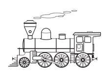 El tren viejo del motor de vapor Tren viejo Imagenes de archivo