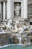 El Trevi de la fuente en Roma. Fotografía de archivo libre de regalías