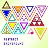 El triángulo colorido crea el fondo foto de archivo libre de regalías