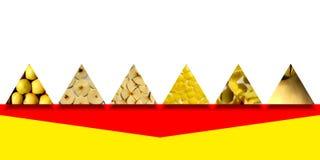 El triángulo forma por completo de texturas de la manzana Fotografía de archivo