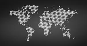 El tri?ngulo de semitono negro punte? el mapa del mundo Ilustraci?n del vector Mapa punteado en dise?o plano Ejemplo del vector a ilustración del vector