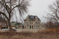 El tribunal y la cárcel viejos en Niagara Falls Canadá Imagen de archivo