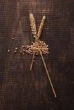 El trigo en la madera foto de archivo libre de regalías