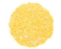 El trigo forma escamas con el azúcar Foto de archivo