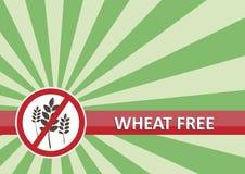El trigo libera la bandera Imagen de archivo libre de regalías
