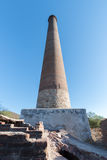 El Triunfo brick Smelter smoke stack, Baja Mexico. This abandoned smelter smokestack is the remnants of a old silver mine in the desert of Baja Mexico Stock Images