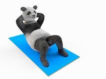 El tronco de trabajo del ABS encrespa los deportes que doblan la mejora del músculo abdominal Imagenes de archivo