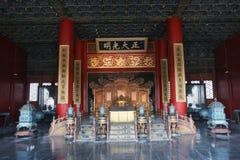 El trono del emperador Foto de archivo libre de regalías