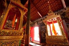 El trono movible en Wat Kasattrathirat Worawihan Foto de archivo libre de regalías
