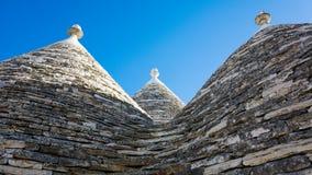 El Trulli de Alberobbelo en Puglia imagenes de archivo