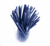 El tubo azul Imagenes de archivo