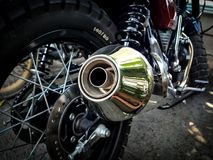 El tubo de escape de la motocicleta fotografía de archivo