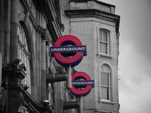 El tubo de Londres fotos de archivo libres de regalías