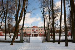 El tubo principal del palacio de Kadriorg tallinn Estonia fotografía de archivo