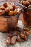 El tunecino aut?ntico Deglet Nour sec? las fechas con suavidad miel-como gusto imagen de archivo