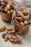 El tunecino aut?ntico Deglet Nour sec? las fechas con suavidad miel-como gusto fotos de archivo