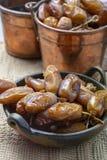 El tunecino aut?ntico Deglet Nour sec? las fechas con suavidad miel-como gusto fotografía de archivo libre de regalías