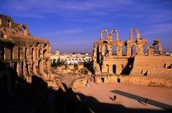 EL Tunisie romaine de djem de Colisé photo libre de droits