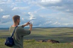 El turista Imagenes de archivo