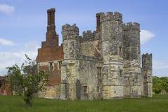 El turreta y los terraplenes de las ruinas de la abadía de Titchfield en Hamoshite Fotografía de archivo