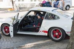 El Tyrol del sur cars_2015_Porsche clásico 911 Carrera RS_driver Imágenes de archivo libres de regalías