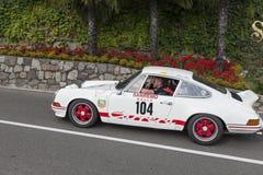 El Tyrol del sur Rallye 2016_Porsche 911 Carrera 2-7 RS Imagenes de archivo